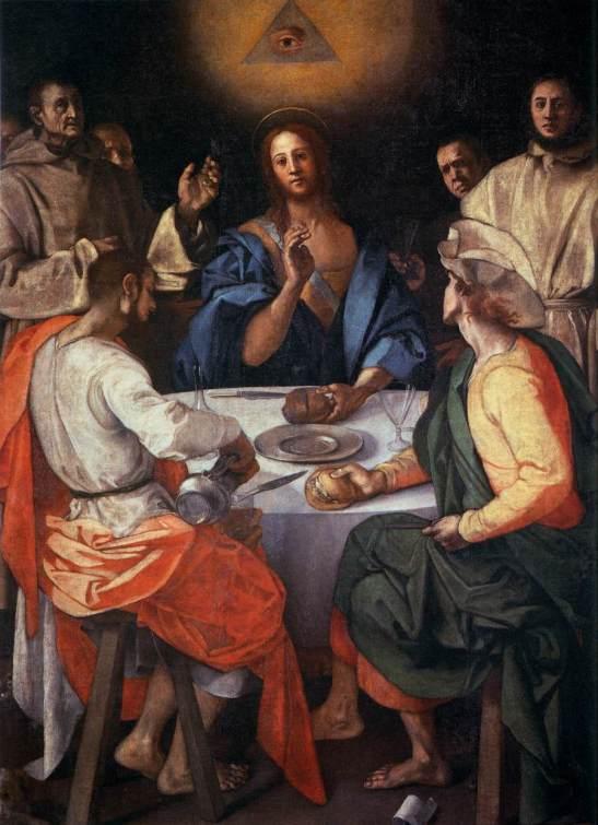 Jacopo Carrucci detto il Pontormo, Cena in Emmaus, 1525