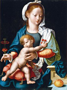 Joos van Cleve - Madonna con il passiflora