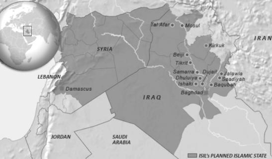Mappa del progetto dello Stato Islamico