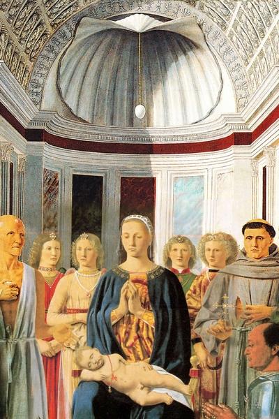 Piero della Francesca (c. 1415 –1492) Pala di Brera 1472-1474 Tempera su panello 248 cm × 150 cm Pinacoteca di Brera, Milano
