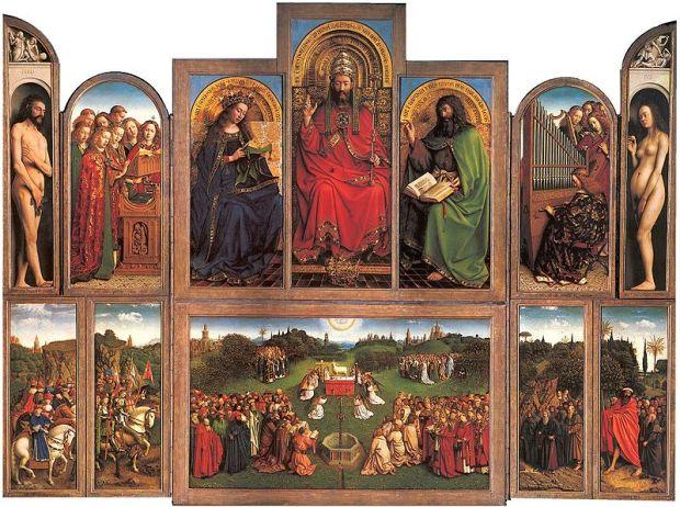 Jan van Eyck - Vita e opere  800px-Lamgods_open