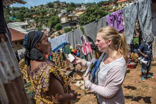 Oxfam's Holly Taylor spoke with a resident of Freetown, Sierra Leone, on Tuesday.
