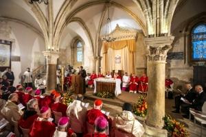 Papa Francisco no Cenaculo