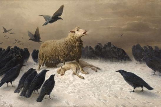 Dentro la bellezza 30 - August Friedrich Schenck, Angoscia, 1880, olio su tela cm 151 x 251, Collezioni internazionali della Galleria Nazionale di Victoria, Melbourne.
