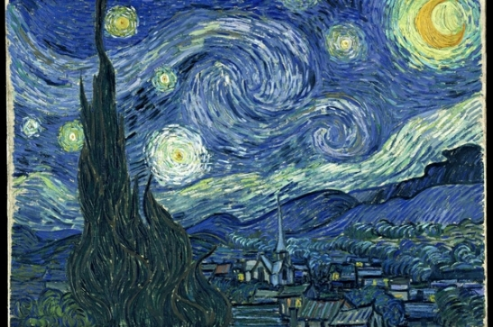 Dentro la bellezza 30 - Vincent van Gogh, Notte stellata 1889, olio su tela, cm 73 × 92 Museum of Modern Art, New York