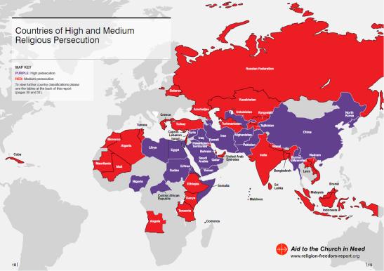 Religious freedom map