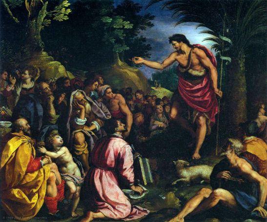 Alessandro Allori, La predica del Battista, olio su tela, 1601, Palazzo Pitti, Firenze.