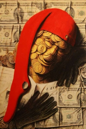 André Martins de Barros Crise Economique, 2010; 236 x 300 cm, olio su tela Collezione Privata