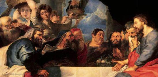 Pietro Paolo Rubens Cristo al banchetto, 1618-20, Hermitage San Pietroburgo.