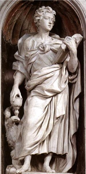 S. João (evangelista) - Alessandro Algardi -Igreja de San Silvestro al Quirinale, Roma,