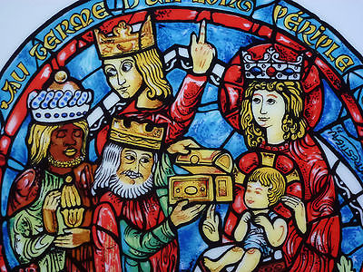 The-Adoration-Of-Kings-Noel-Vitrail-Christmas-Plate-pattern