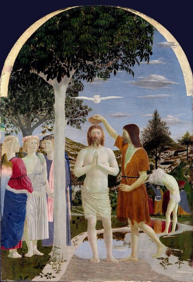 06 Piero della Francesca, Battesimo di Cristo