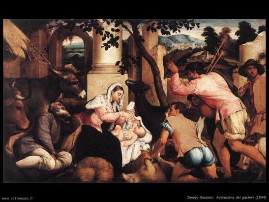 2 Adorazione dei Pastori di Jacopo Bassano (1544)