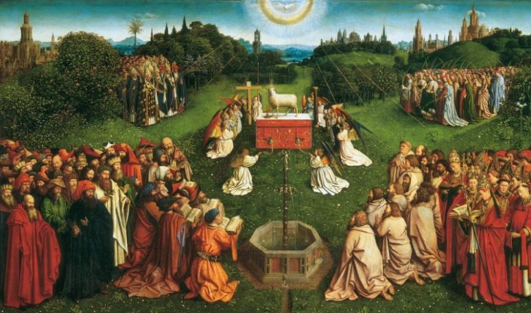 3 Jan van Eyck, nel suo Polittico dell'Agnello