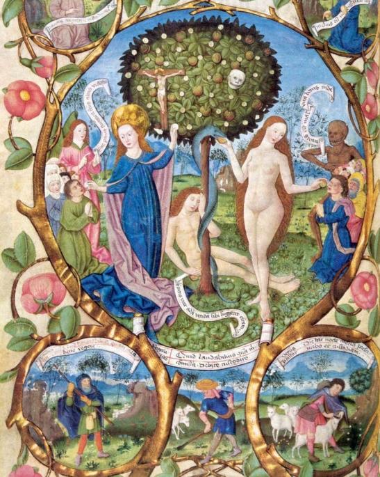 4 Adamo ed Eva, l'albero della vita e l'albero della morte. Messale di Salisburgo 1489