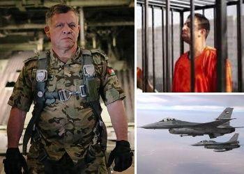 foto del re giordano Abdullah che si è fatto ritrarre in tenuta da combattimento,