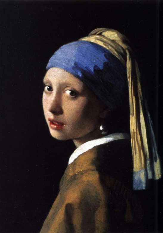 46 Johannes Vermeer  Ragazza con l'orecchino di perla, 1665-1666 circa olio su tela 44,5×39 cm Mauritshuis, L'Aia
