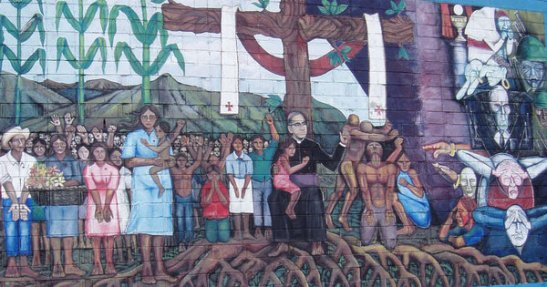 Archbishop Oscar Romero, depicted in a mural in San Salvador, El Salvador, near the site of his 1980 assassination, is to be beatified in May