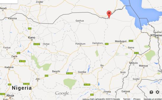 MAPPA. Contrassegnata con lo spillo rosso, la città di Damasak