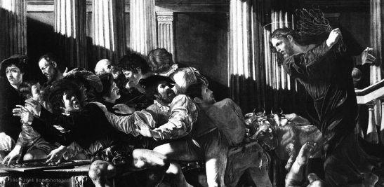 Quaresima III - Boneri Francesco, Cecco del Caravaggio, Cacciata dei mercanti dal tempio, 1615