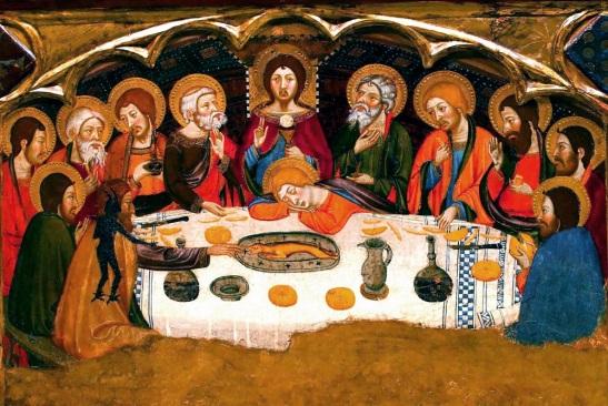 50.2 Jaume Serra 1367 – 1381 Tempera su tavola 346,3 x 321 cm Museo Nazionale di Arte di Catalogna, Barcellona Spagna.