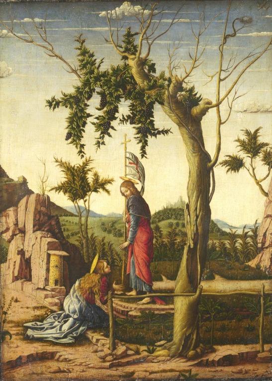 51.1 Noli me tangere Anonimo (imitatore di  Andrea Mantegna) 1475-1500  olio su legno 43.9 x 32 cm Londra National Gallery