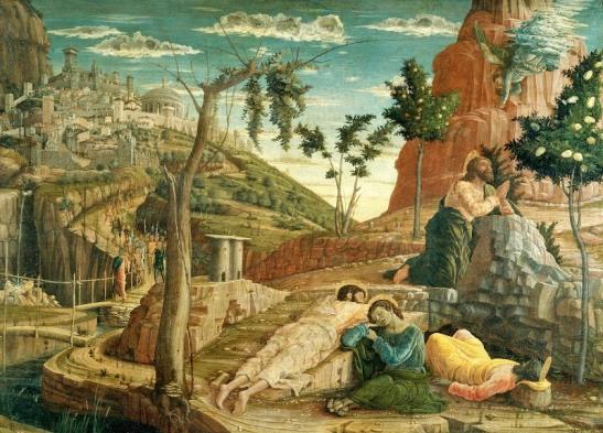 51.2 Andrea Orazione nell'orto, 70 x 92 cm, Mantegna particolare della Predella Pala di San Zeno
