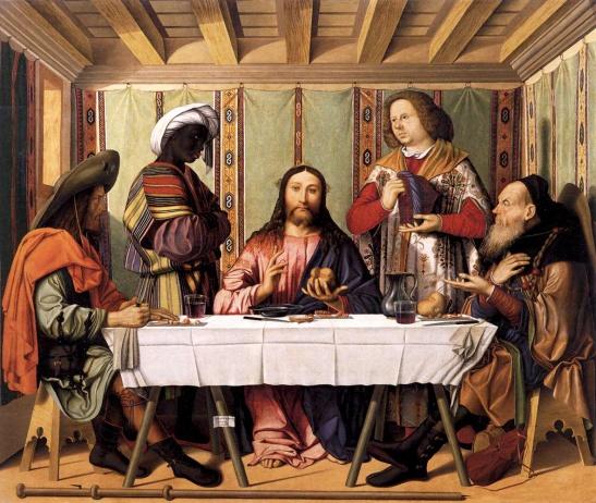 52.2 Marco Marziale, Cena in Emmaus, 1506, dipinto su tavola, 122 x 141 cm, Gallerie dell'Accademia, Venezia