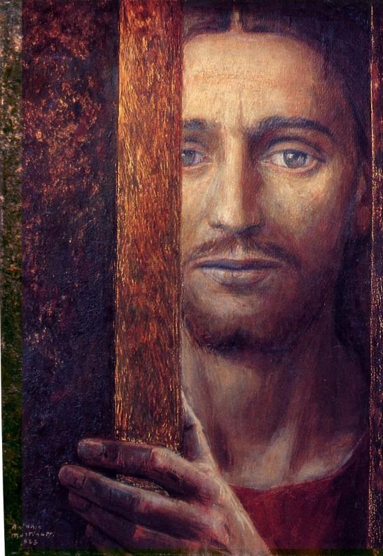 53 Antonio Martinotti (Pavia 1908 - Milano 1999) Cristo alla porta, 1953, olio su tela, Collezione Privata, Monza.