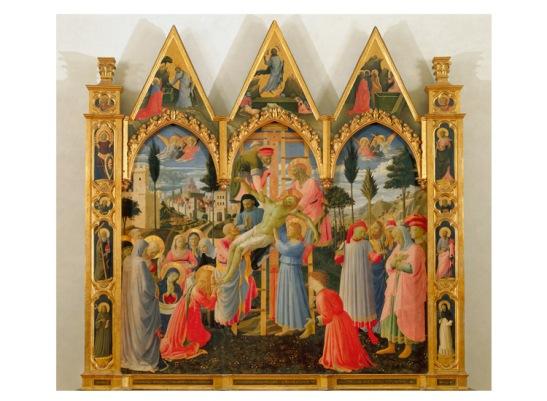 L'uomo della sindone 7 - Beato Angelico e Lorenzo Monaco, Deposizione (1432-1434 circa), tempera su tavola. Firenze, Museo di San Marco