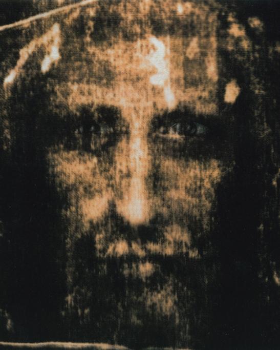 """L'uomo della sindone - Daniela Alfarano, Il sacro Sguardo (2015), opera realizzata per """"Luoghi dell'Infinito"""""""