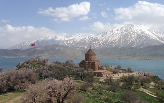 The Armenian Church of the Holy Cross on Akdamar Island, Lake Van in Turkey