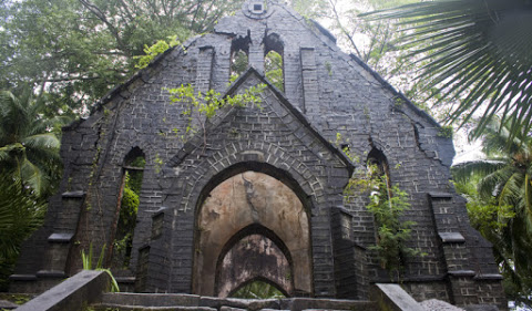 5. L'église perdue de Ross Island en Inde