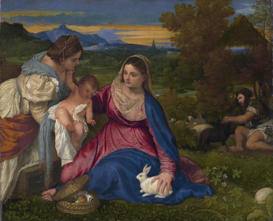 Madonna of the Rabbit*oil on canvas*71 x 87 cm *1525 - 1530