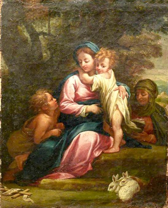 56 (2) Scuola Emiliana XVII sec (seguace del Badalocchio) olio su tela 39x31 cm. Collezione Privata Bologna
