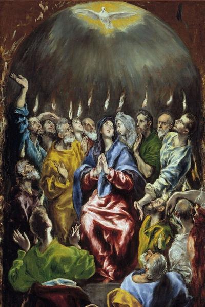 57.1 El Greco, Pentecoste 1597-1600 Olio su tela, cm 275 x 127 Museo del Prado, Madrid