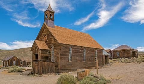 9. La petite église de Bodie, en Californie