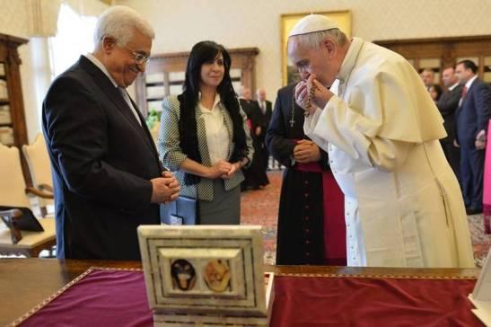 Abu Mazen with Pope Francis