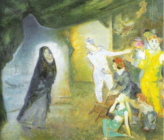 Aldo Carpi., Madonna con Bambino e teatranti
