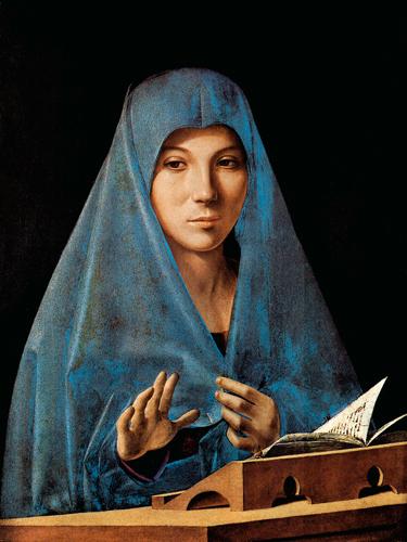 Antonello da Messina, lo sguardo di Maria.