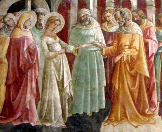 Cappella_bartolini_salimbeni,_05_sposalizio_della_vergine between 1420 and 1424 loreno monaco (2)