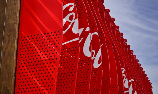 Coca Cola Offical soft drink partner Expo