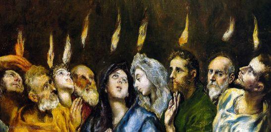 El Greco, Pentecoste (particolare), 1596, Museo del Prado, Madrid
