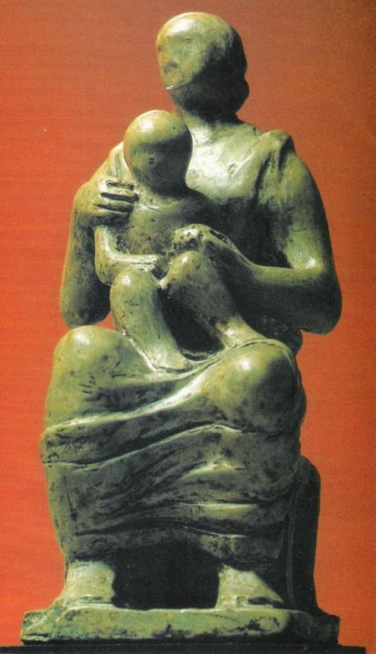 Henry Moore, bozzetto per la Madonna con Bambino,