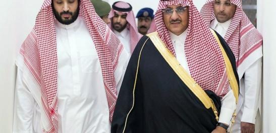 Mohammed bin Nayef bin Abdul Aziz, à droite sur la photo, le prince hériter du royaume d'Arabie saoudite.
