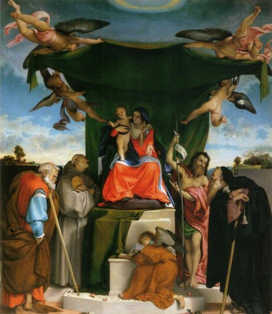Pala di San Bernardino, 1521, Bergamo, San Bernardino in Pignolo
