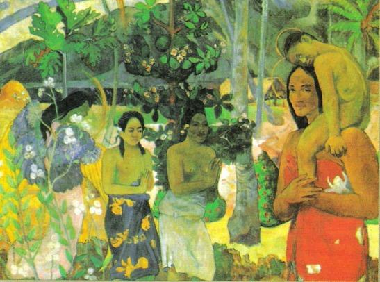 Paul Gauguin, La Orana Maria o Annunciazione a Maria, olio su tela.