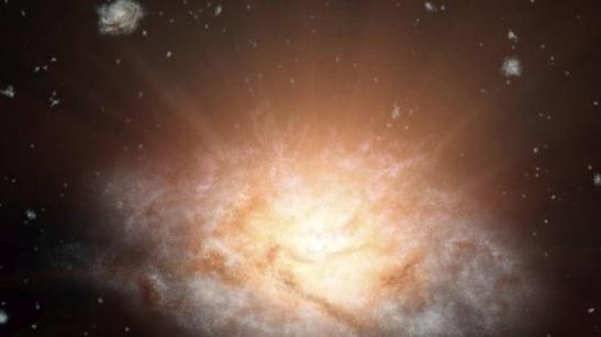 Scoperta la galassia più luminosa dell'universo.