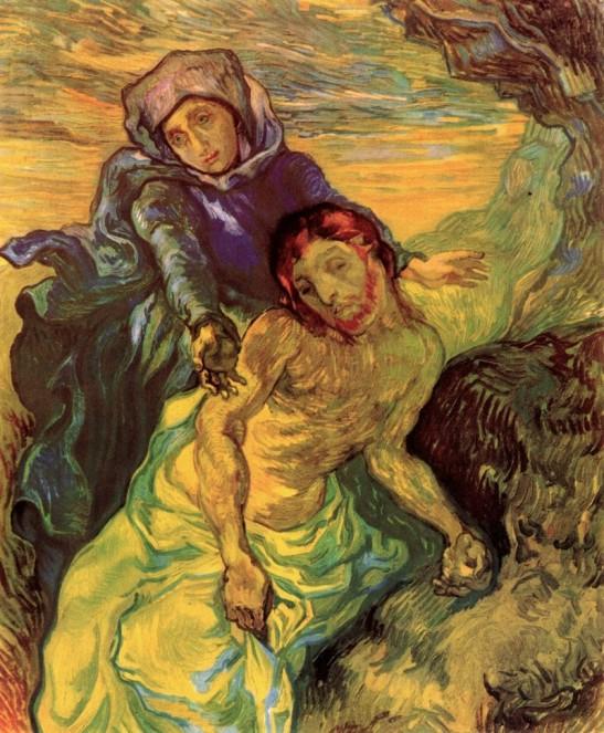 Vincent van Gogh, Pietà, olio su tela dipinto durante la permanenza del pittore ad Arles.