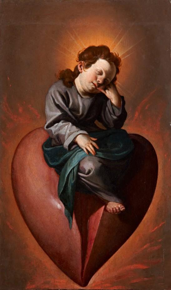 60 Alonso Cano, Gesù Bambino col cuore infiammato e ferito d'amore, Ego dormio, et cor meum vigilat, 1636-38, Meadows museum of Art, Dallas